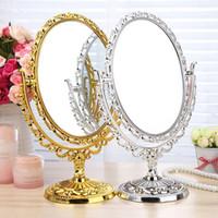 bathroom foot - Compact Mirror makeup cosmetic table bathroom mirror on foot stand