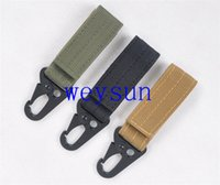 Wholesale Military Carabiner Lock High Stength Nylon Key Hook Webbing Molle Buckle Outdoor Hanging Belt Clip Buckle