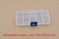 Wholesale component box electronic IC chip SMT box screw box ten lattices storage tool box blue button mmx70mmx22mm