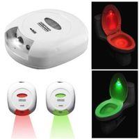 Wholesale Body Sensing Motion Sensor Automatic LED Night Sound Light Control Toilet Bowl Bathroom Lamp