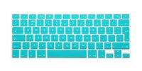 Wholesale For MacBook Pro quot quot quot Air Retina Keyboard Cover EU UK Colored Silicone Keyboard Protective Film Skin