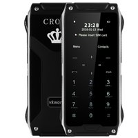 al por mayor cerradura quad-VKworld Crown V8 1.63 pulgadas Corning gorila de cristal de pantalla Quad Band desbloquear teléfono bloqueo de guardia podómetro de control remoto Bluetooth 0.49 cm Ultra T