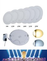 Wholesale Dimmable Led Panel Light SMD W W W W LM W LM V Led Ceiling lights spotlight downlight lamp driver MYY33
