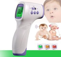 Wholesale 2016 New Arrival Children s Thermometers Baby Digital Non contact infrared Forehead Body Thermometer With Three color Backlight HZ F01
