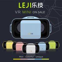 Wholesale New VR BOX III LEJI VR Mini Virtual Reality D Video Games Glasses Google Cardboard inch Smart Phone Better Than VR BOX