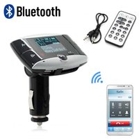 Wholesale BT01 BT Handsfree Wireless Bluetooth FM Transmitter Modulator Car Kit MP3 Player SD USB LCD Remote Controll Car Music Player for Phone