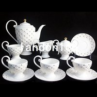 Wholesale European style Tea set Bone China Coffee set Ceramic Cup and Saucer Service for People Birthday Gift