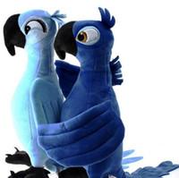 achat en gros de perroquet peluches-Gros-2016 Nouveaux Rio Parrot Peluches 1 Piece 35cm Blu Jewel Cartoon Doux Enfants Stuffed Poupées Enfants Presents Cadeaux d'anniversaire