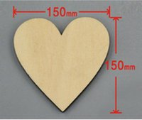 Wholesale 12pcs bag mm Blank unfinished wooden heart crafts supplies laser wood Wedding decoration teaching DIY accessories