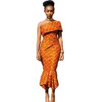 africa singles - Womens Autumn Sexy Party Girl Sleeveless Fashion Sexy Single Shoulder Mermaid Hem Africa Print Dress