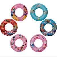 Wholesale 2016 Fashion hello kitty Frozen kids Swimming Ring Inflatable Floats Pool Swimming Float Sizes