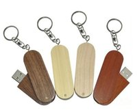 Wholesale 5 Piece No Logo Wood Rotatable USB Drives Capacity Enough U Disk USB2 Environmental protection rotate USB Flash Drives