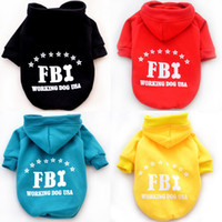 Wholesale New arrival Fashion Cute Pet Dog Apparel Winter clothes Coat new FBI dog sweater two legs fleece Teddy