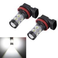 Wholesale 2x H8 H11 W K for OSRAM Chips LED Car Fog Light Fog Lamp LED Headlight Fog Driving Lights Bulb V V Xenon White