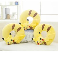 Wholesale health care Portable Pikachu U shape pillows home office travel respite Cushion soft neck head rest pillow Christmas and Halloween gifts