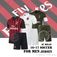 Wholesale Top Quality Men s New AC Milan soccer Suit Uniforms BACCA KAKA home away Soccer Jersey BONAVENTURA HONDA football shirt with shor