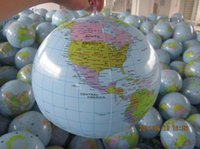 beach ball material - New Pvc material inflatable globe with world map educational toy inflatable kids beach ball