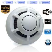 Wholesale 32GB Spy Smoke Detector WiFi Wireless IP Camera Hidden Convert Nanny Camera Video Recorder