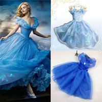 baby stage - New baby girls Frozen dress Cinderella princess dress kids cosplay costumes party Dresses C1402