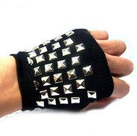 Wholesale Half Finger Gloves Cotton Gloves Dance Gloves Fashion Cool Gloves Semi Wool Gloves Men Winter Semi Finger Gloves Wool Warm Gloves