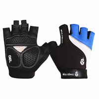 Wholesale WOLFBIKE Brand Non slip Short Gloves Mitten Road MTB Motorcycle Cycling Bike Bicycle Racing Riding Breathable Half Finger Glove Freeshipping