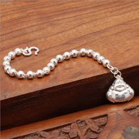 baby buddha statues - Latest design sterling silver bead bracelet baby buddha statues charm bracelet for sale BS00865