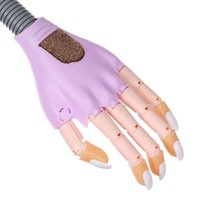 Wholesale 2016 new arrival Purple nail trainer practice hand with flexible fingers Nail Art Fake Hand Manicure with Raplacement Tips