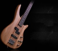 Wholesale fashion elm electric bass string the tibesti right handed solid rose wood logs of wood fingerplate bass