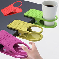 Wholesale Table Desk Cup Holder Clip Drink Clip Coffee Holder can be easily fixed on the table at the side