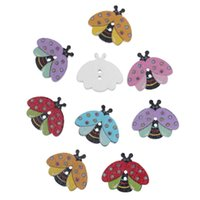 Wholesale Wood Sewing Button Scrapbooking Insects At Random Two Holes Dot Pattern mm quot x mm quot new