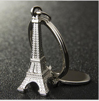 advertising campaigns - New Metal key chain Mini Paris Eiffel Tower key chain Creative promotional gifts advertising campaign lettering