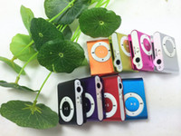 Wholesale Card clip MP3 player without screen metal pincer mp3 USB custom printed logo