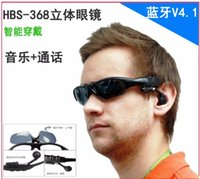 Cheap Sun Glasses Bluetooth Headset Sunglasses Stereo Bluetooth Headphone Wireless Handsfree Black for iphone 6 5 5s Samsung Galaxy S5 S4 ipad