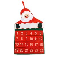 advent calendar for christmas - Christmas Calendar Advent Calendar Santa Claus Countdown Calendar Banner New Year Party Christmas Decorations for Home Natal Navidad