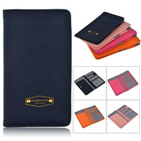 Wholesale passport cover color Leather PU Travel Wallet Women Men case Document id credit card Anti Skimming cover for Passport