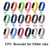 Wholesale 2016 New Fitbit Alta Bracelet Replacement Wrist Band TPU Silicone Strap For Fitbit Alta L S Size Smart Wearable Straps DHL Free