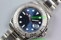 antique watch face - Luxury Men Mechanical Wrist watches Blue Face Sapphire Swiss ETA Automatic Movement Date Stainless Steel Mens Antique Watch mm