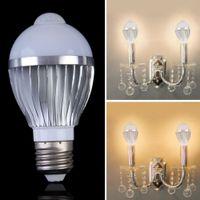 auto spot lamp - New E27 led Spotlight PIR Auto Motion Sensor led bulb AC85 V Detection LED Light Lamp Bulbs led Spot bulb with high quality