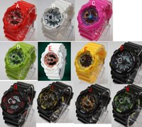 analog baby - new arrivel fashion colorful silicone sports baby g watch Double movement LED watch can choose color