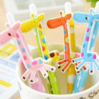 Wholesale Lovely Giraffe Shape Ballpoint Pens Office School Student Prize Gifts Christmas Present Writing Pen Cute Prize Gifts