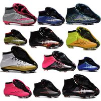 Wholesale in mid Blue SUPERFLYs soccer shoes Men Magistas high top soccer shoes soccer shoes