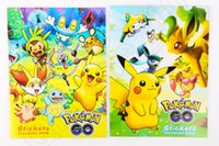 art books children - Pikachu Coloring Books Poke Children Cartoon Early Educational Anime Art Book With Stickers Graffiti Book Children Gift OOA719