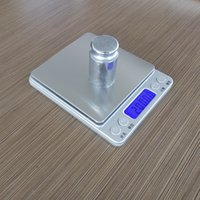 Wholesale 3000g Square Silver Digital Weigher Jewelry Diamond Beans Pocket Electronic Balance Solid Color Electronic Scale Gifts For Housing Fan