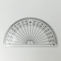 Wholesale Plastic half circle Protractor degree cm in length inches square both of business promotion and kids students use
