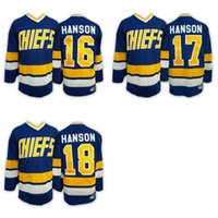 Wholesale 2016 Mix Order Charlestown CHIEFS Men s Jack HANSON Jerseys Steve HAN ICE Hockey Jersey Embroidery Cheap Throwback Jeff HANSON CCM