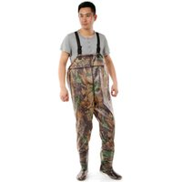asian boots - New Waterproof Fishing Trousers Wader Fishing Waders Pants Boots for Fishing Breathable Waders Camouflage Asian Size WR0201