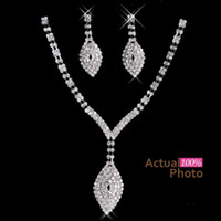 earrings fashion earrings - 2016 New Rhinestone Crystals Jewelry Set Cheap Fashion Wedding Evening Prom Formal Accessories Hot Sale Necklace