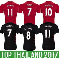 Wholesale best quality MEN liverpool soccer Jerseys Home away rdd gerrard origi bentehe sturridge coutinho hendeson football shirt