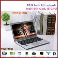 Wholesale Intel i5 th Gen CPU Ultrabook quot Laptop Computer GB RAM GB SSD TB HDD HDMI Cell Battery Windows