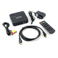 Wholesale 1Set MXV XBMC Android Smart TV BOX Quad Core Network Streamer Media Player HD Hot Worldwide
